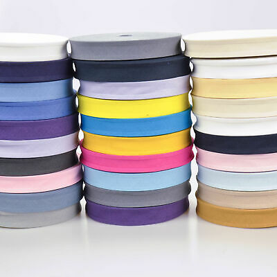 Cotton Bias Binding Tape 25mm Wide (1 inch) 44 Colours & 4 Lengths, Free UK Post