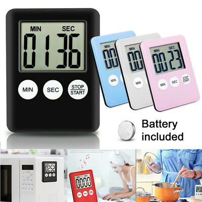 Large Kitchen Cooking LCD Digital Timer Count-Down Up Clock Loud Alarm Magnetic