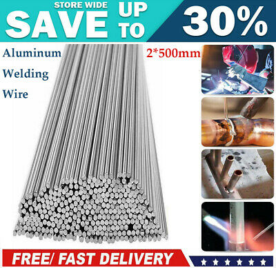 2*500mm Low Temperature Aluminum Welding Solder Wire Flux Rods 10/20/50Pcs U9W5