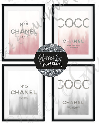 Fashion art Coco Chanel Quote pink or grey beauty room bedroom OFFICE Art print