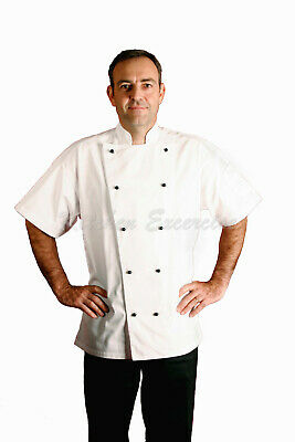 Chef Jackets, Black/White, Short/Long Sleeve Great Quality & Great Value! $17.00