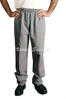 Chef Drawstring Pants, Black / Checkered Great Quality & Great Value! $16.00