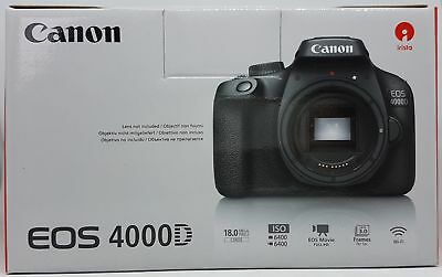 Canon EOS 4000D Reflex Body, 18MP, Nero - Nuovo & Ovp , Commerciante