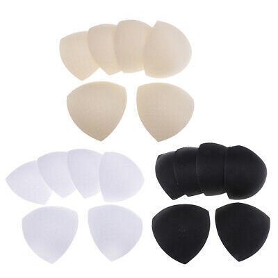 6 Pairs Sponge Bra Pad Triangle Sewing Padded Removable Insert Soft Cup