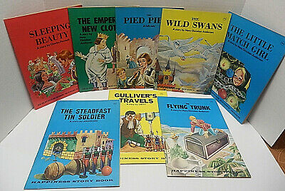 Vintage Lot of Happiness Story Books By Hans Christian Anderson and others