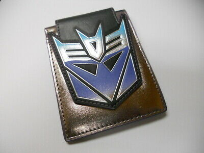 NEW TRANSFORMERS More Than Meets The Eye DECEPTICON SILVER bifold WALLET