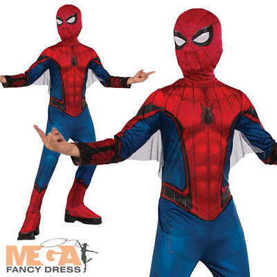 Spider-Man Boys Fancy Dress Marvel Comic Superhero Kids Childrens Costume Outfit
