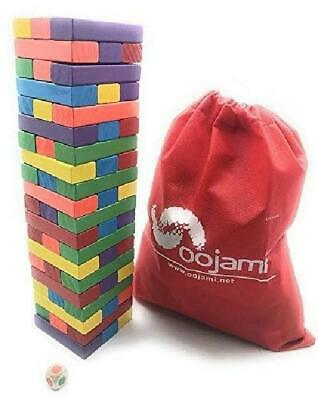 oojami Game Giant Yard Big Large Wood Block Picnic Party Pool Tower Lawn Outdoor