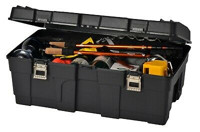 CONTICO 89 Litre Hinged Lid Heavy Duty Military Plastic Storage Trunk Troop Box