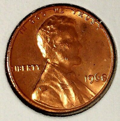 1968-P 1C Lincoln Memorial Cent 17ws0209  BU Only 50 Cents for Shipping*