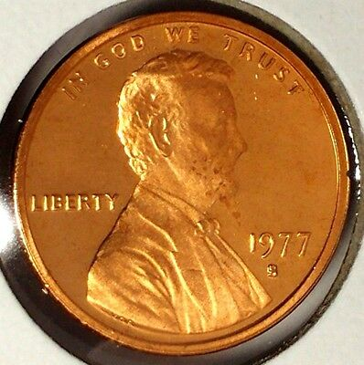 """1977-S 1C Lincoln Memorial Cent 18uu0201 """"Gem Proof""""  Only 50 Cents for Shipping"""