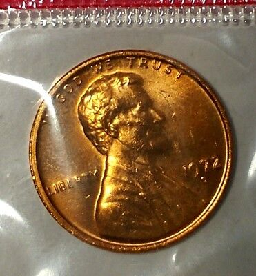 1972-D 1C Lincoln Memorial Cent 18ct0929 BU/Mint Set Only 50 Cents for Shipping