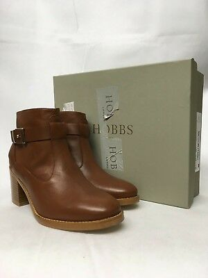Hobbs Noah Leather Tan Ankle Boots. Various Sizes. RRP £149.