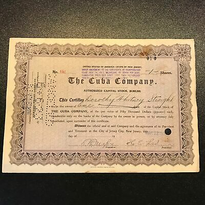 Original Dorothy Payne Whitney Signed Autographed  Company Stock Certificate