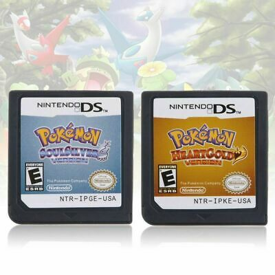 Pokemon HeartGold SoulSilver Game Card For 3DS NDSI NDS NDSL Lite US Version USA