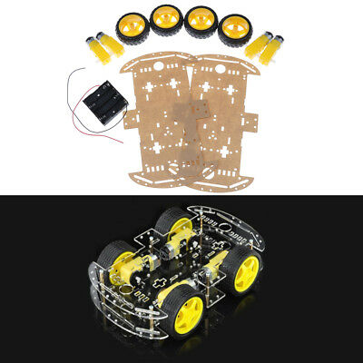 1set 4WD smart robot car chassis kits with Speed Encoder for arduino In UK