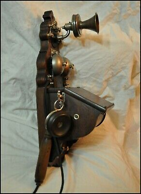 Antique LM ERICSSON wall telephone AB 100-105