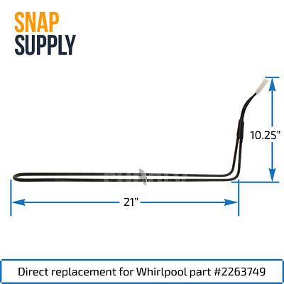SNAP SUPPLY DEFROST Heater for Whirlpool Directly Replaces ... on