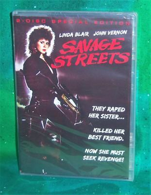 New Rare Oop Linda Blair Savage Streets 2 Disc Special Edition Movie Dvd 1984