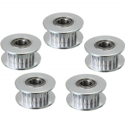 ARCELI 5PCS GT2 Timing Belt Idler Pulley 20 teeth 20T Aluminum Bore 5mm With For