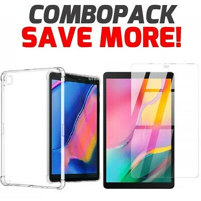 For Samsung Galaxy Tab A 10.1 2019 Clear Case Heavy Duty Protective Bumper Cover