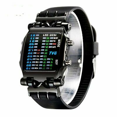 Men Hand Watch LED Wristwatch Digital Modern Futuristic Sci Fi Waterproof Sport