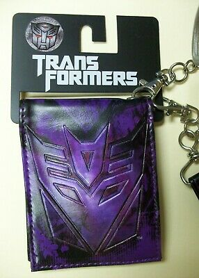 NEW TRANSFORMERS More Than Meets The Eye DECEPTICON purple bifold WALLET