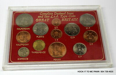 GREAT BRITAIN - Complete Decimal Issue Last & New £.S.D. Type Coin Set - 1967