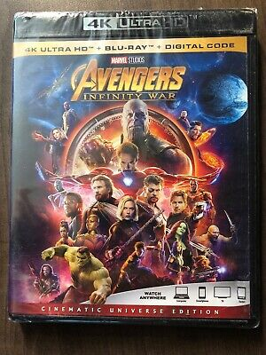 Avengers Infinity War 4K Ultra HD & Bluray Canada Bilingual LOOK