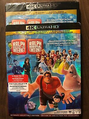 Ralph Breaks The Internet 4K & Blu-Ray w Slipcover Canada Bilingual NO DC LOOK
