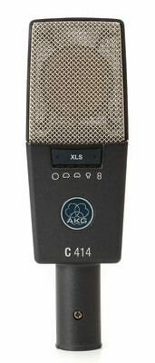 AKG C414 XLS Multi-Pattern Large Diaphragm Studio Condenser Mic With Case And Ac