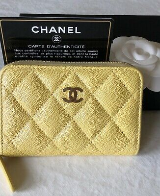 3fc7079865eb Chanel 19c yellow iridescent zippy coin purse hard to find sold out  everywhere