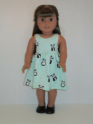 """Panda/Green Sundress for 18"""" Doll Clothes American Girl"""