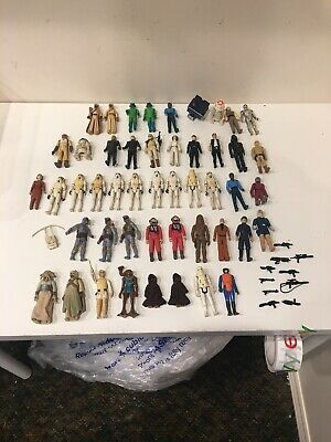 Star Wars vintage action figure lot of 48 Stormtroopers JAWA BOBA FETT