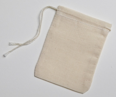 Celestial Gifts Cotton Muslin Bags 7x9.5 Cm Drawstring 100 Count Pack