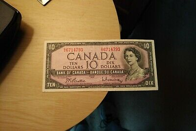 1954 $10 Dollar Bank of Canada Banknote DV6714793