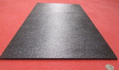 "Misc ABS Black Plastic Sheet 1//4/"" .250/"" Haircell 1 side 6mm stereo"