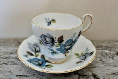 "By Appt. Paragon ""Blue Mist"" Fine Bone China Teacup & Saucer - England"