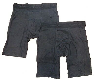 TOMMY JOHN 2-Pack BLACK X-LARGE Boxer Briefs NWT!
