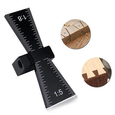 New Aluminum Woodworking Dovetail Jig Marker Honing Guide Gauge for Wood 1:5&1:8