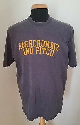 6be807045 Rare Vtg 90s Abercrombie & Fitch Athletic T-Shirt Faded Navy Tap It 1892 Sz