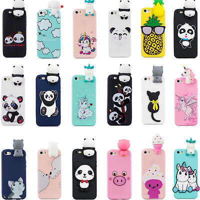 3D Cute Cartoon Soft Silicone Case For iPhone 5S 5C SE 6S 7 8 Plus XS XR XS Max