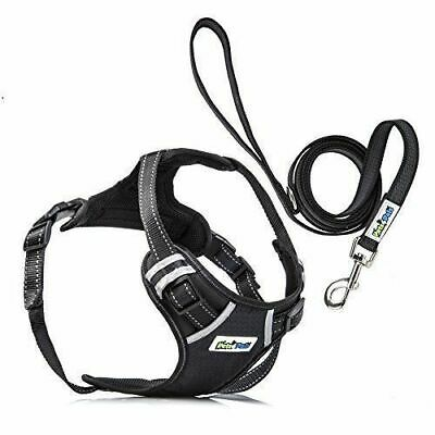 Adjustable No Pull Reflective Dog Pet QUALITY Harness W/ Handle, D-Ring & Leash
