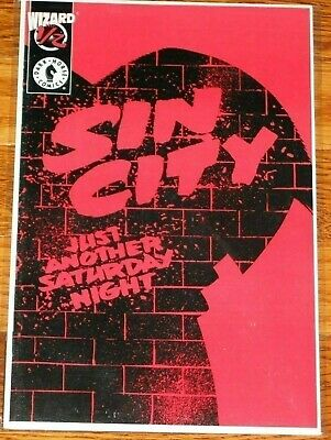 Sin City Wizard 1/2 - Just Another Saturday Night - COA comic book