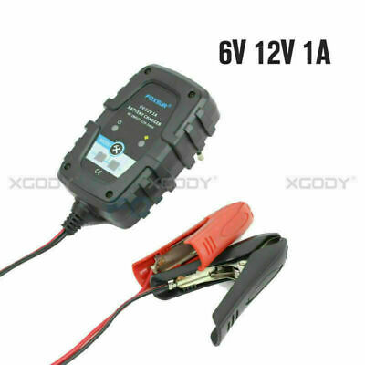 6V12V Portable Automati Battery Charger For Car Motorcycle1A Overcurrent EU PLUG