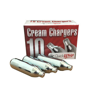 1x Cream Whipper Chargers, Pack of 10 Charger Bulbs, For Cream Whipping Guns