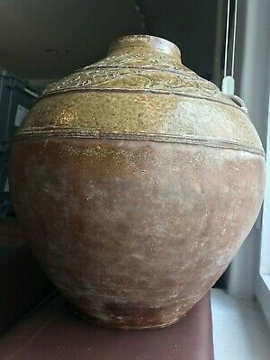 Antique Chinese Proto-Porcelain Glazed Hu Jar, Han dynasty (206 BC-220AD)