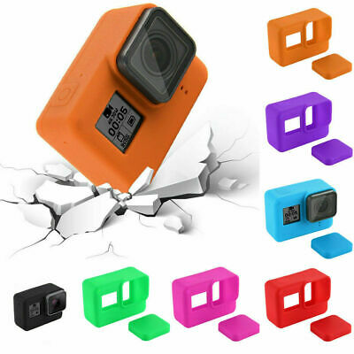 Shockproof Silicone Protective Case Cover + Lens Cap For GoPro Hero 7 Camera New