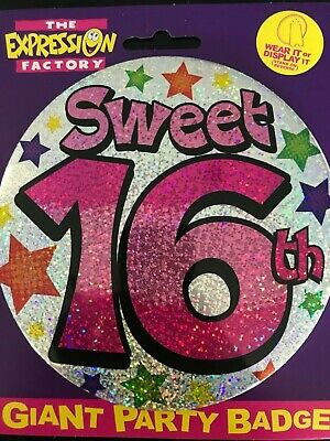 80th Birthday GIANT BADGE 15cm SPOTS I/'M 80 Party Badge
