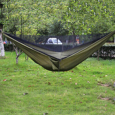 Portable Jungle Parachute Camping Hammock with Mosquito Net Military SO